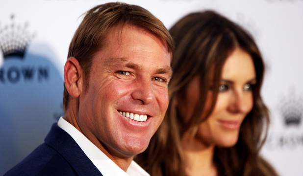 HELPING HAND? Shane Warne maintains he's had no surgery, although there's ample evidence of some assistance.