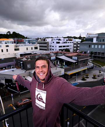 TARANAKI FAN: Surf tourist Juan Carlos Valenzuela, of Chile, agrees with survey results which put Taranaki at the top of a list of best New Zealand destinations.