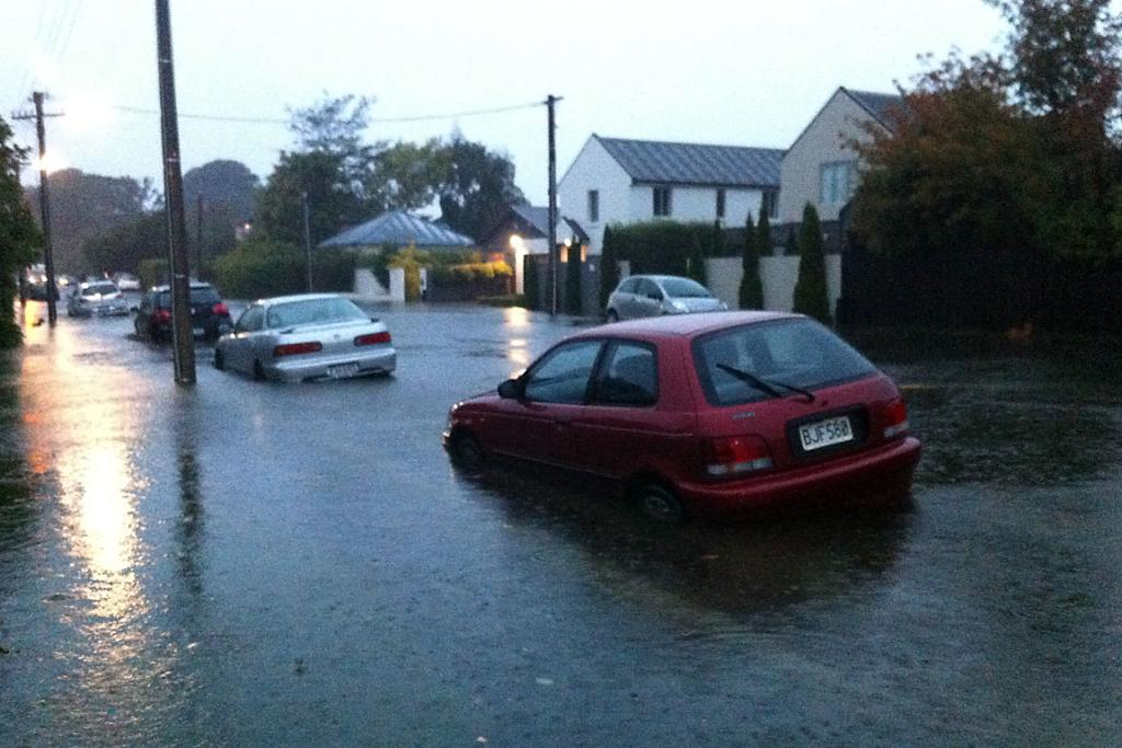 STUCK: Residents in Abberley Cres, St Albans, will have difficulty getting to work today.