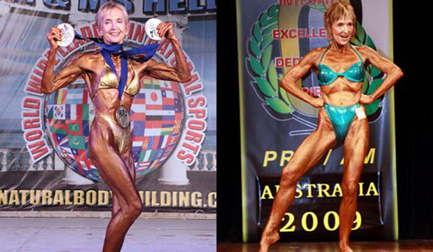 DOING HER THING: Janice competing in 2013 (left) and 2009 (right).