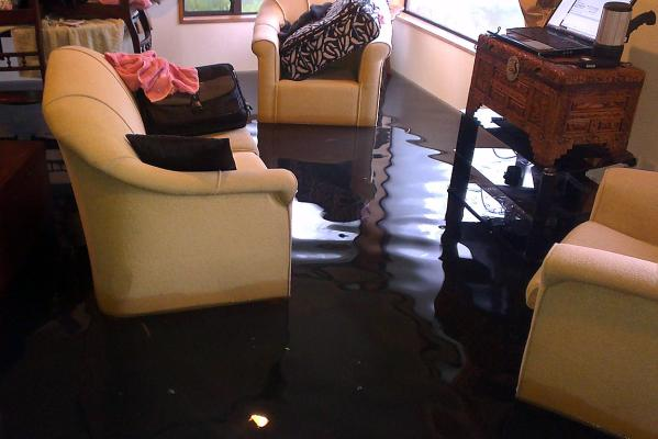 Francis Ave house floods
