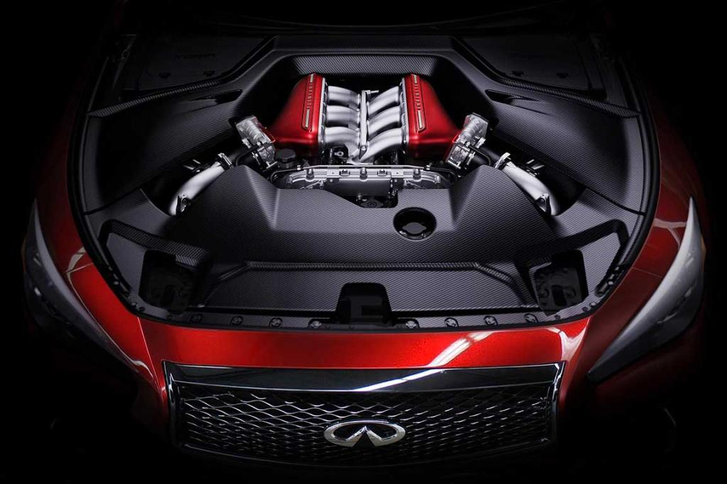 The powerplant of the Infiniti Q50 Eau Rouge.