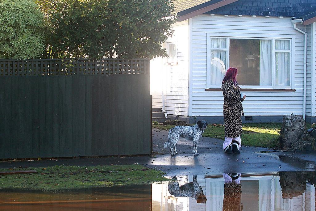 Carrick St woman and dog