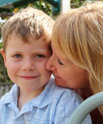 BRAVE BOY: Patrick Walsh, 6, pictured with mum Melanie, will travel to the United States in May for open heart surgery.