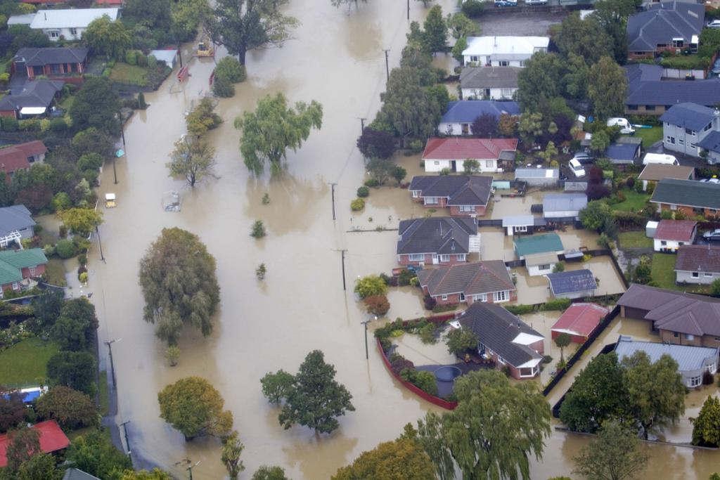 OPAWA UNDER WATER: The Heathcote River burst its banks flooding houses on Fifield and Riverlaw Tce in Opawa.
