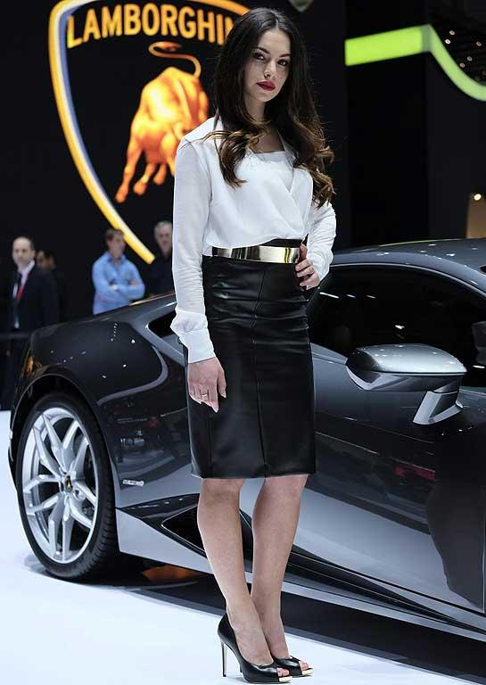 Girls of the 2014 Geneva Auto Show.