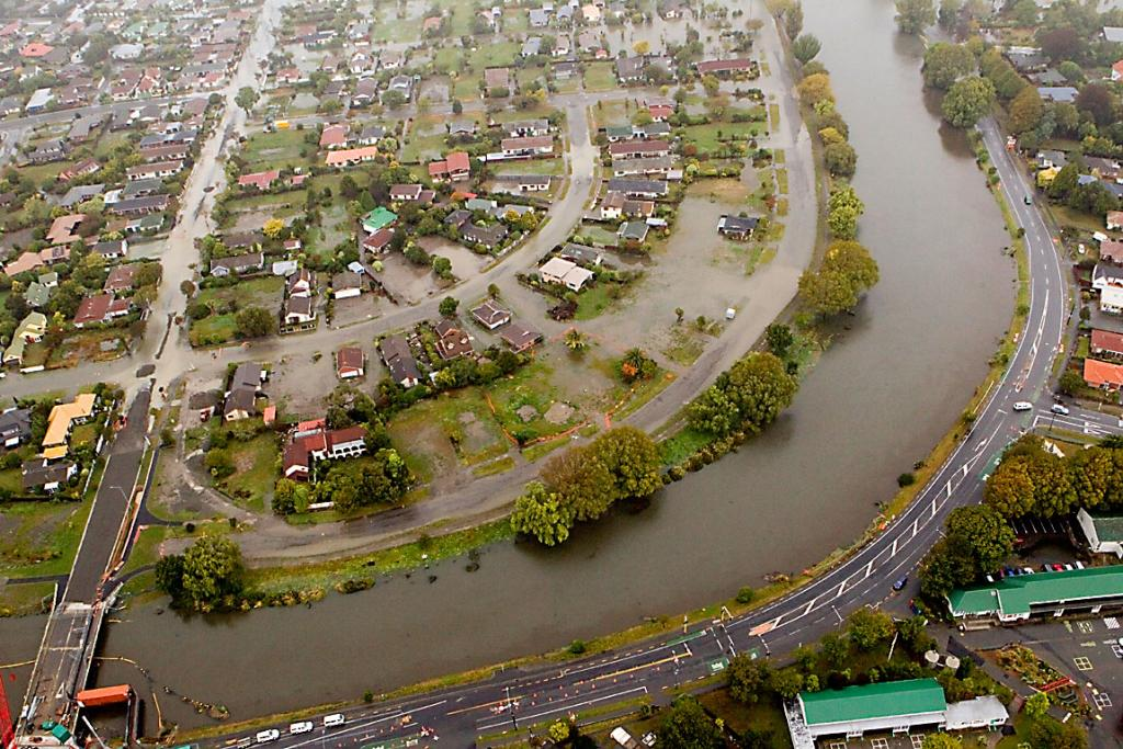Avondale New Brighton aerial flooding pic