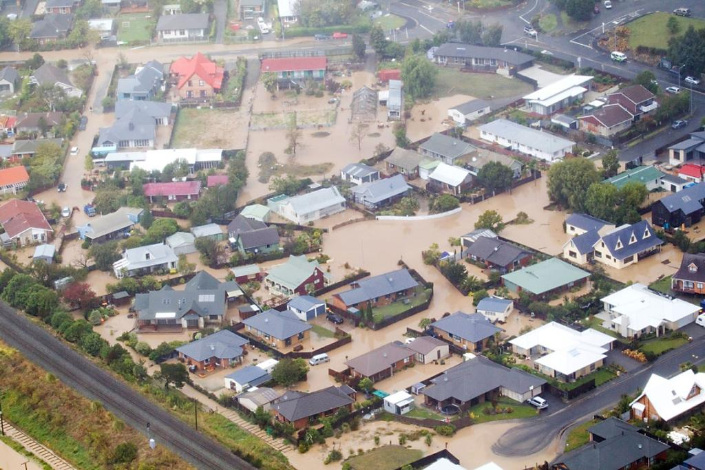 Heathcote Valley flooding aerial
