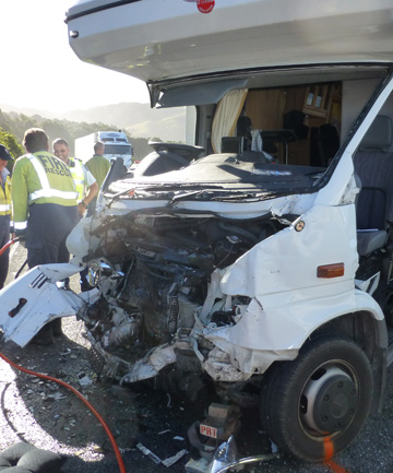 Damaged vehicle from Kaikoura crash, March 6, 2014