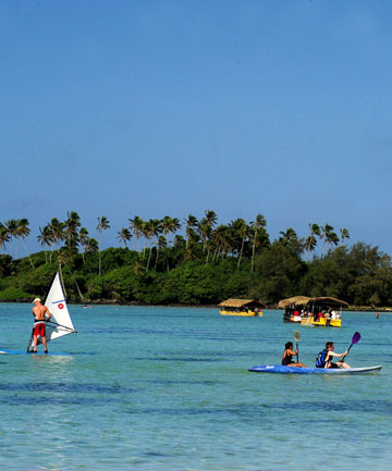 WATER SPORTS: There's more to Rarotonga than honeymooning couples.