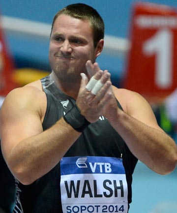 BRILLIANT BRONZE: Tom Walsh has claimed a brilliant bronze medal on day one of the World Indoor Championships in Poland.