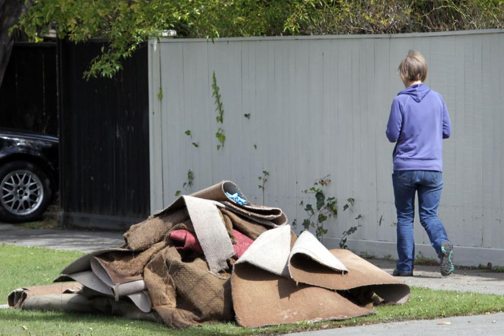 Post Flooding in Christchurch, Carrick Street in Saint Albans.