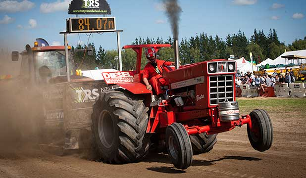 Tractor pulling is growing in popularity worldwide.