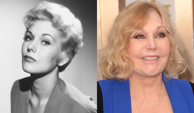 FROZEN FACE: 60 years on and Kim Novak is looking rather bizarre.