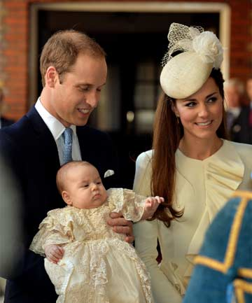 FAMILY: Prince William, the Duke of Cambridge, and Kate Middleton, the Duchess of Cambridge, with their son George.