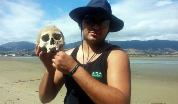 human skull found on Tahunanui Beach