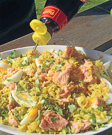 Kedgeree with salmon