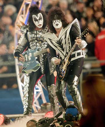 KISS-OFF: Two Kiss band members have joined to launch a new Arena Football League team, the LA Kiss.