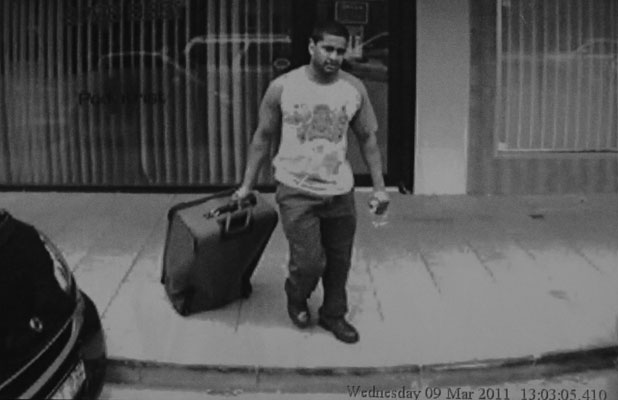 SUITCASE KILLER: CCTV footage of Daniel Stani-Reginald with a suitcase containing the body of his murder victim, Indian student Tosha Thakkar, on March 9, 2011.