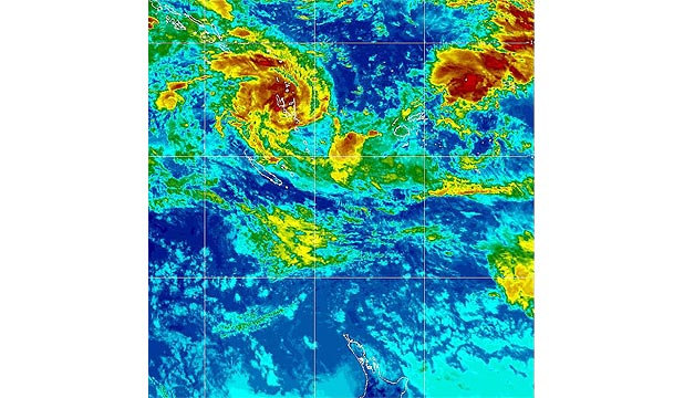 STORM: Lusi reached a category-one storm level near Vanuatu this morning as it sucked in power from the Pacific Ocean, that is at a bath-like 30 degrees Celsius in the region.