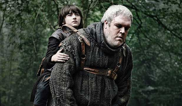COMING OUT: Kristian Nairn (right) as Hodor in Game of Thrones.