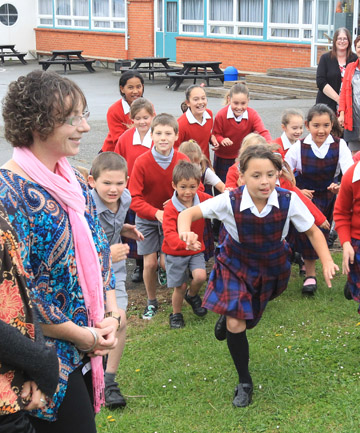 RUN OF SUCCESS: St Teresa's School assistant principal Sue Haines celebrate after being invited to the International Summit on the Teaching Profession.