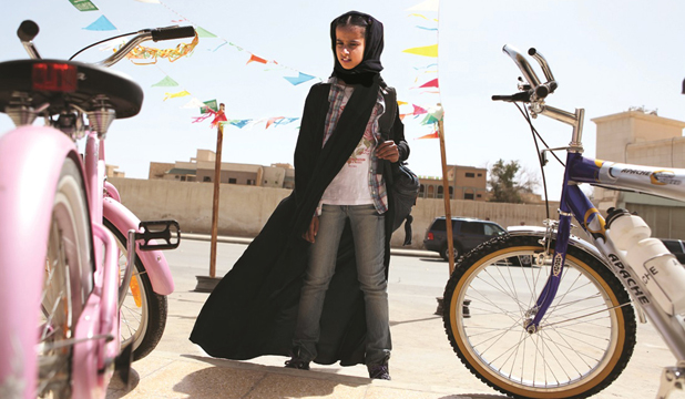 Wadjda (Waad Mohammad) dreams of owning her own means of transport.