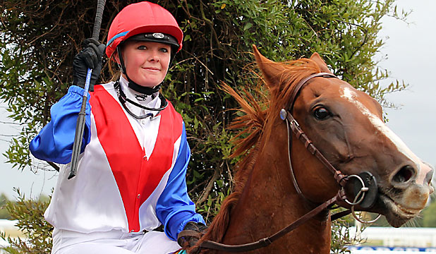 HOSPITALISED: Jockey Ashley Frye was rushed to hospital after a fall at Ashburton left her unconscious.