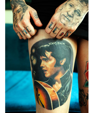 THE KING: On her thigh, this is Amie's favourite tattoo.