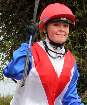 HOSPITALISED: Jockey Ashley Frye was rushed to hospital after a fall on mount Zuleika at Ashburton left her unconscious.