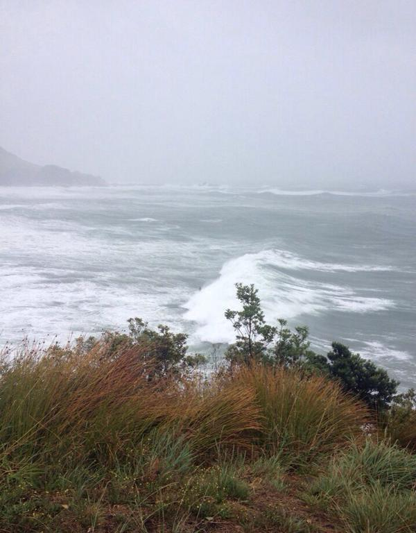 Surf's up in Mt Manganui.