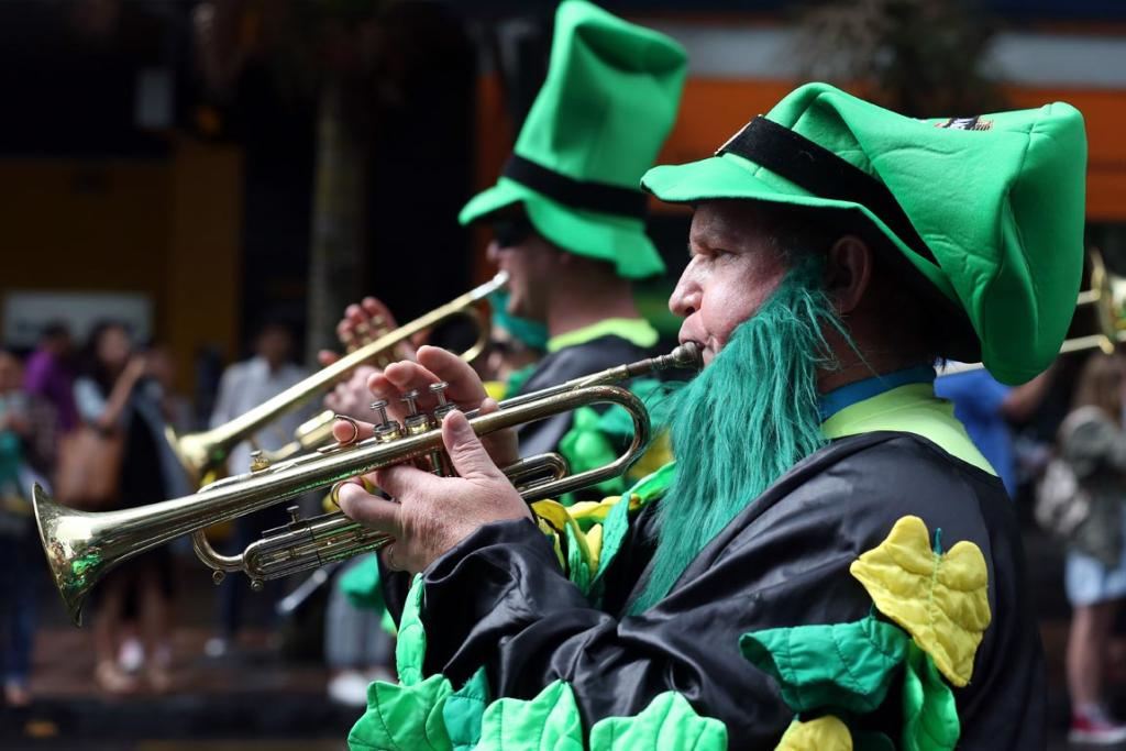 2014 St Patrick's parade in Auckland's Queen Street.
