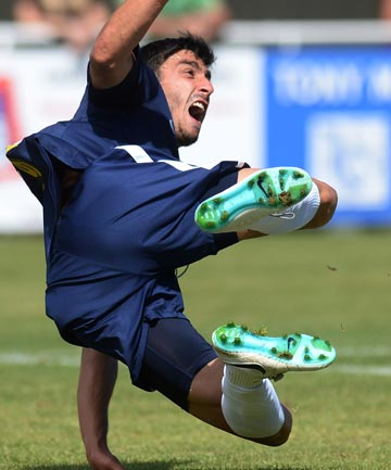 Emiliano Tade scored the winning goal for Auckland City in the national football final against Wellington.