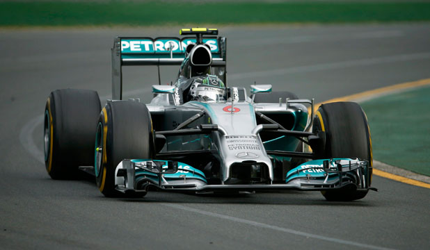 OUT IN FRONT: Mercedes were strong as predicted in Melbourne, but it was Nico Rosberg who took the first win of the season as teammate Lewis Hamilton was forced to retire early on.
