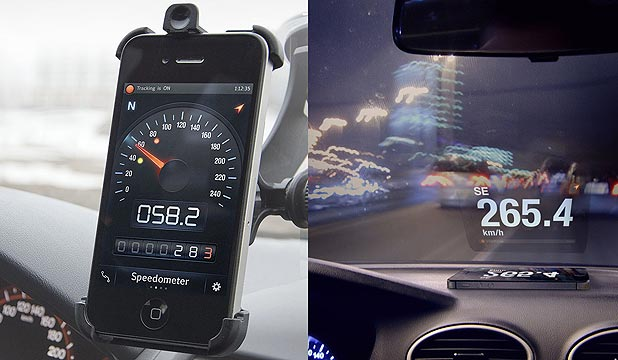 GPS-based speedometer