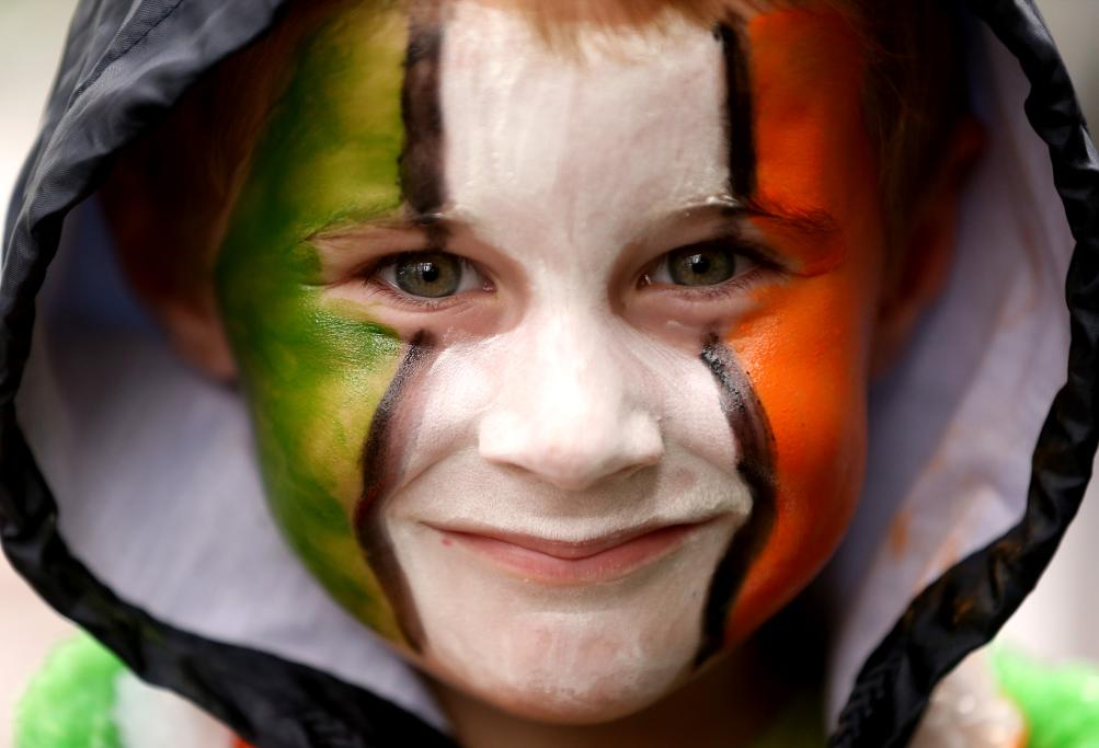 Oisin Montague (4) from Manukau enjoys the St Patrick's Parade on Auckland's Queen Street on Sunday afternoon.