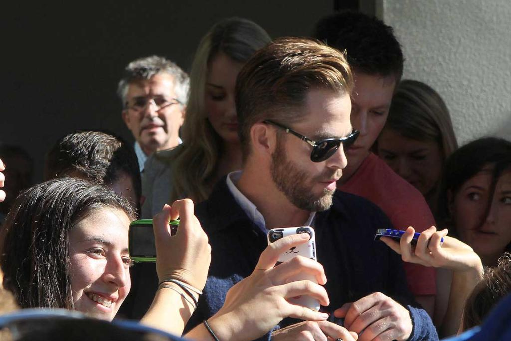 Chris Pine leaves Ashburton District Court after pleading guilty to a drink driving charge.