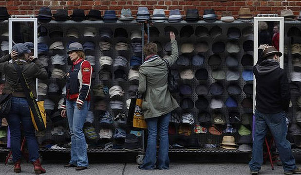NEW YORK: A hat stand in Nolita.