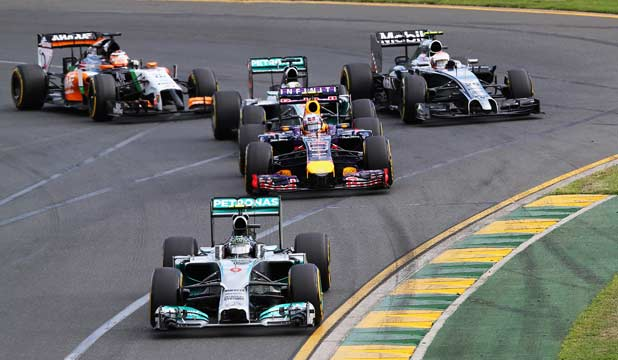 WANTING FULL NOISE: The move to the quieter V6 engines did not please organisers and spectators at the Australian Grand Prix.