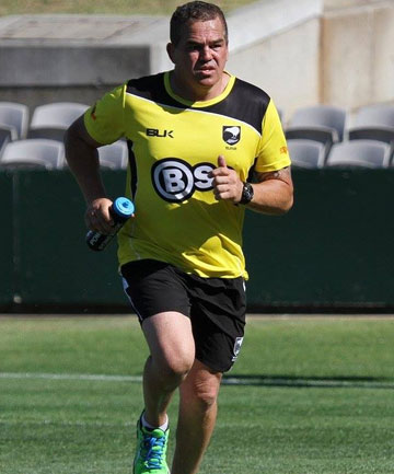 NEW ROLE: Mark Horo in the action as trainer for the Junior Kiwis last year.