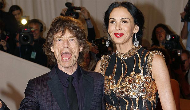 COUPLE: L'Wren Scott and Mick Jagger in New York in 2011.