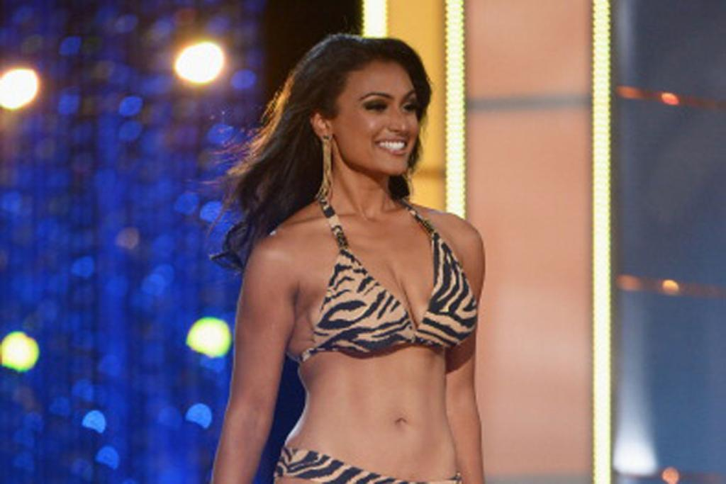 Nina Davuluri during the Miss America pageant.