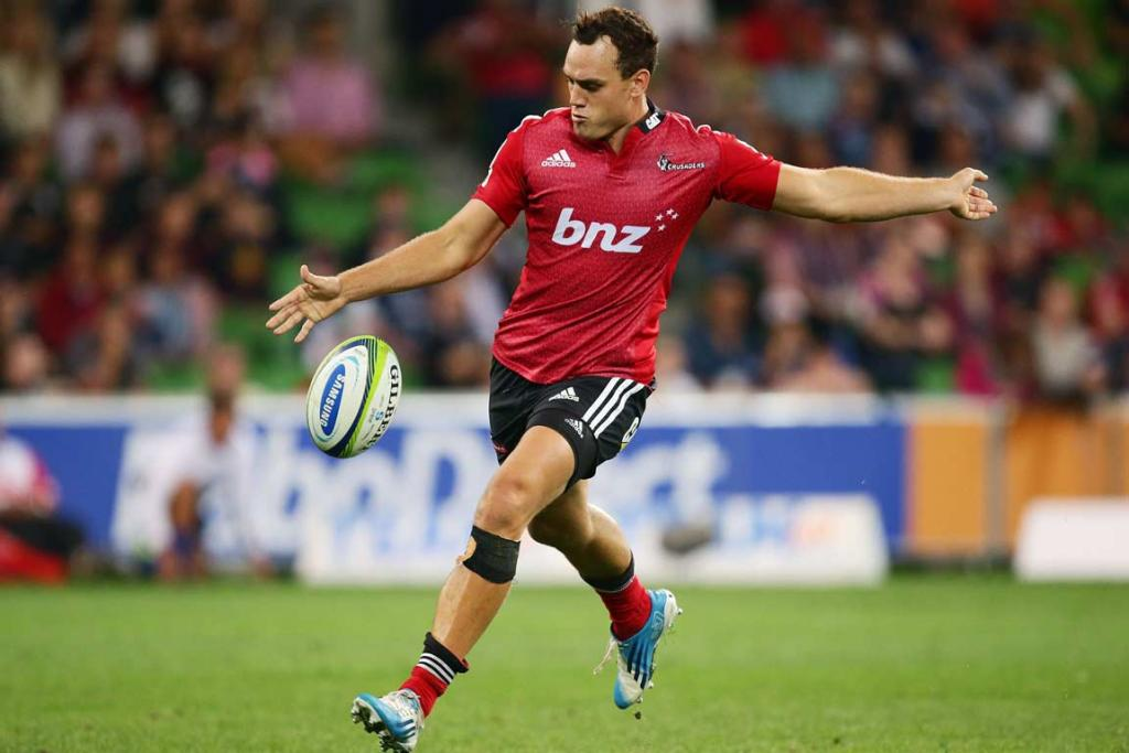 Israel Dagg unleashes a punt downfield.