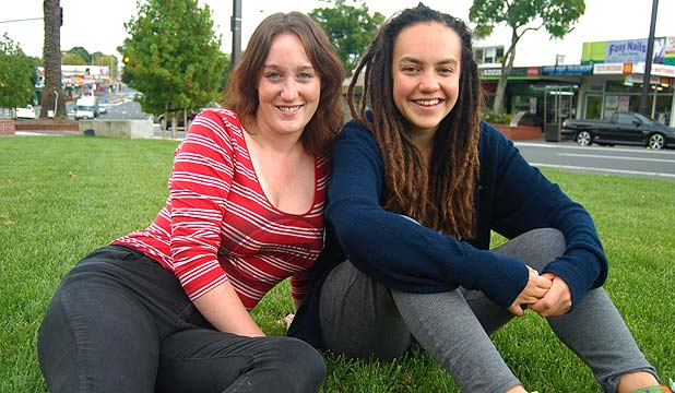 Chloe Waretini, left, and Laura O'Connell-Rapira