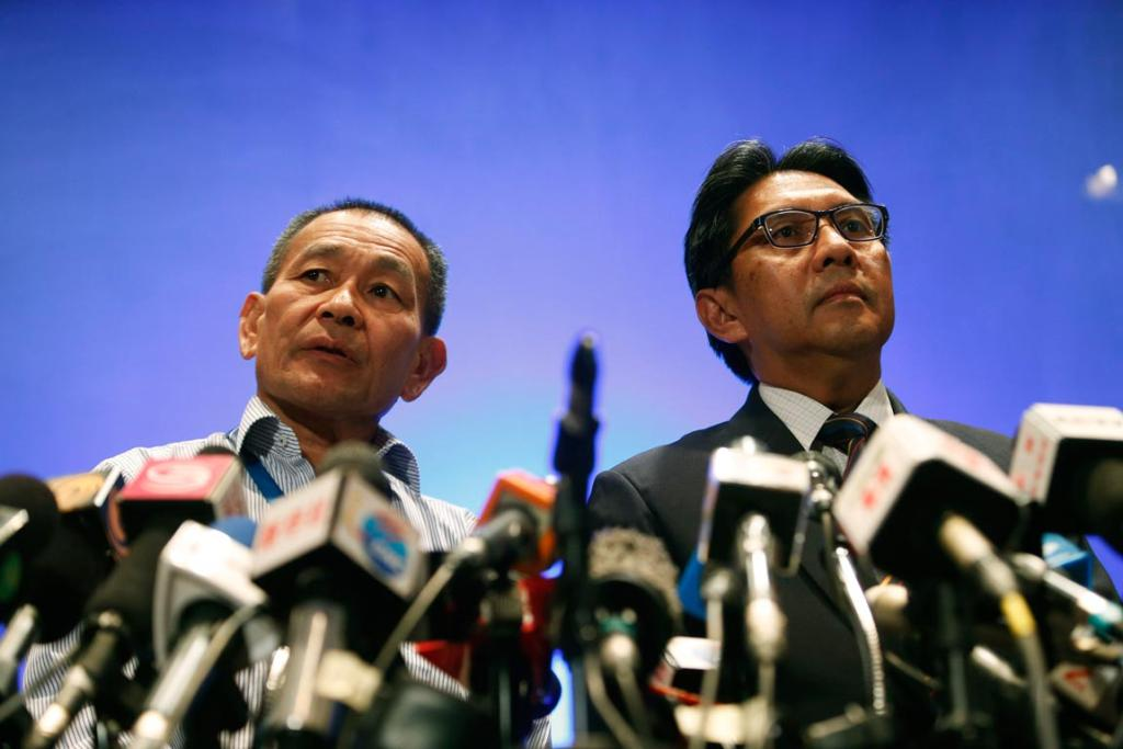 Malaysian government and airline officials have released confusing and contradictory information. Here, Malaysian Airlines CEO Ahmad Jauhari Yahya, left, and Department of Civil Aviation director general Datuk Azharuddin Abdul Rahman take questions at a press conference.