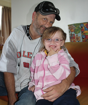 STICKING TOGETHER: Paul Sexton and his daughter Sapphire are thankful for the help they got to get back on their feet.