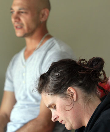 SPEAKING OUT: Dave Longstaffe, 52, died last week after injecting himself with an infected needle. His daughter, Melissa Fisk, and her partner, Kristin Griffiths, talk about Dave's life on the Christchurch Methadone Programme.