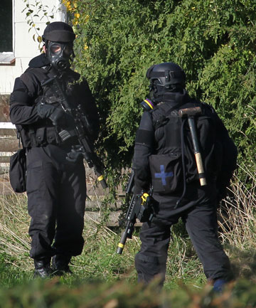 Armed offenders squad members