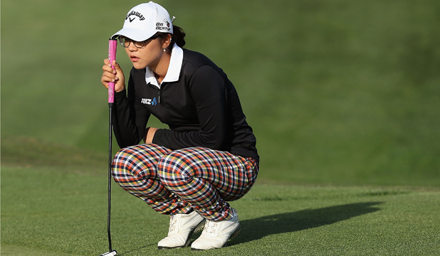 Lydia Ko looks over the 10th hole green in Phoenix on Thursday.