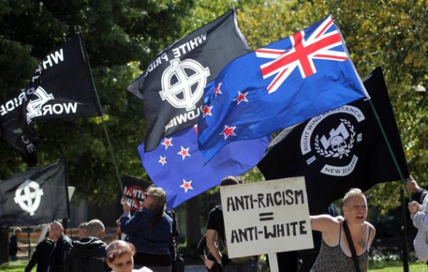 Anti-racists meet white supremacists in Christchurch